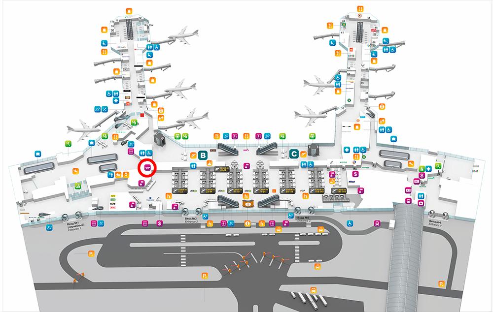 Схема аэропорт Домодедово
